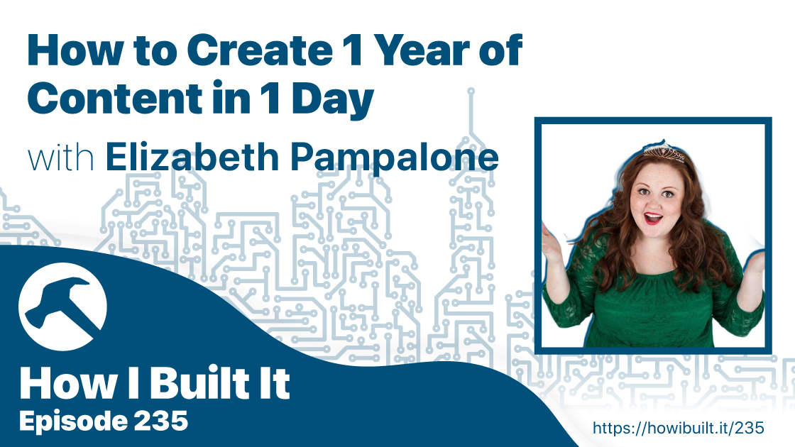 How to Create 1 Year of Content in 1 Day with Elizabeth Pampalone